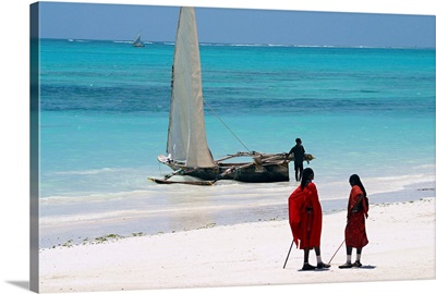 Africa, Tanzania, Zanzibar, Kiwengwa beach