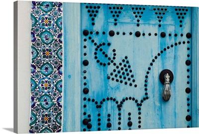 Africa, Tunisia, Medina, door detail