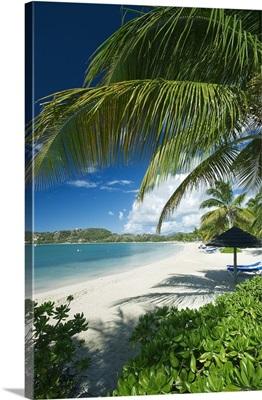 Antigua and Barbuda, Beach of the St James Club complex, at Mamora Bay