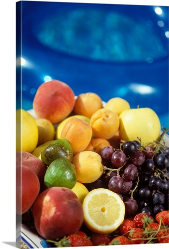 Apricots, strawberries, grapes Wall Art, Canvas Prints, Framed ...