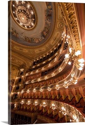 Argentina, Buenos Aires, Interior of Teatro Colon, Congreso