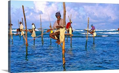 Asia, Ceylon, Sri Lanka, Southern Province, Fishermen