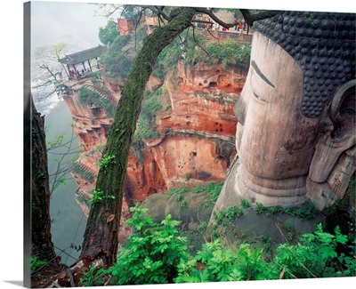Asia, China, Sichuan, Giant Buddha of Leshan, the largest Buddha in the world