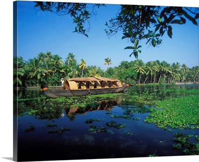 Asia, India, Bharat, Alleppey, houseboat on the Backwaters