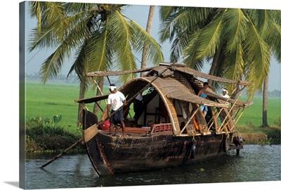 Asia, India, Bharat, Kerala Backwaters, houseboat