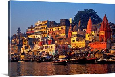 Asia, India, Varanasi Asia, India, Varanasi, Ghat along Ganges