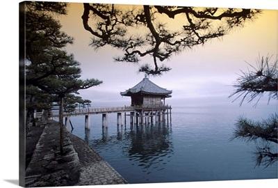 Asia, Japan, Kinki, Shiga, Shiga prefecture, Lake Biwa and Ukimidou Temple