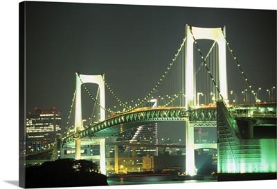 Asia, Japan, Tokyo, Odaiba neighborhood, Rainbow Bridge