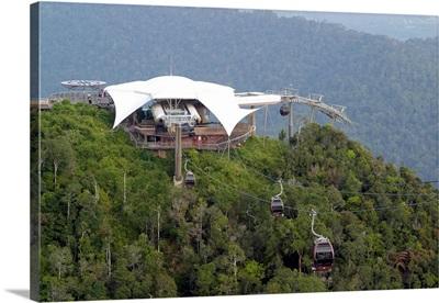 Asia, Malaysia, Langkawi island, Gunung Mat Cincang mountain, cable car station