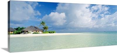 Asia, Maldives, South Nilandhoo Atoll, Velavaru Tourist Resort, the lagoon