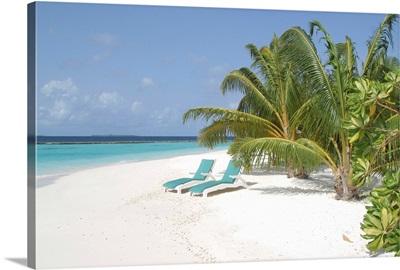 Asia, Maldives, White sand beach