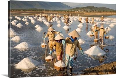 Asia, Vietnam, Dien Khanh, Nha Trang, Salt mines near Nha Trang City
