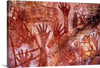 Australia, Northern Territory, Arnhem Land, Mt Borradaile, rock paintings