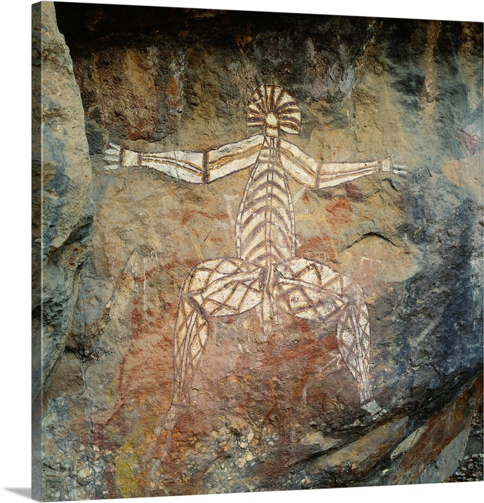 Australia Northern Territory Kakadu Np Aboriginal Rock Paintings