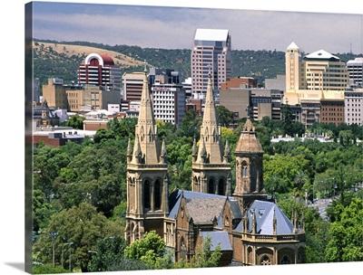 Australia, South Australia, Adelaide, View of the town