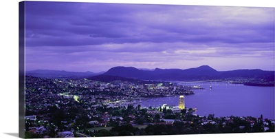 Australia, Tasmania, Hobart, View of the town