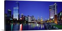 Australia, Victoria, Melbourne, Night view