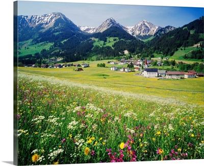 Austria, Tyrol, Tannheimertal valley, Alps, Central Europe, Schattwald