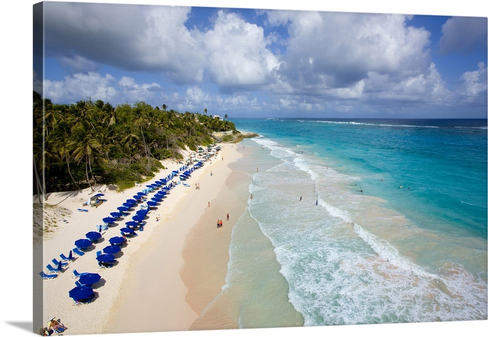 Barbados Crane Beach On The South East Coast Wall Art Canvas