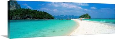 Beach with sandbar