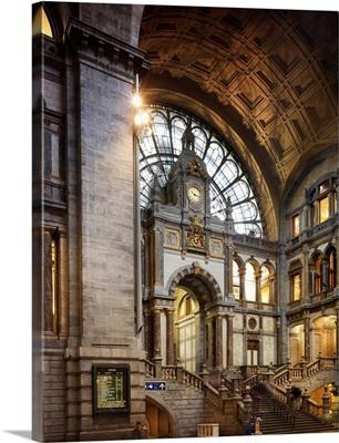 Belgium, Flanders, Antwerp, Benelux, Train Station
