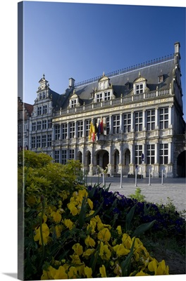 Belgium, Wallonia, Tournai, The Cloths Market building on the Grand Place