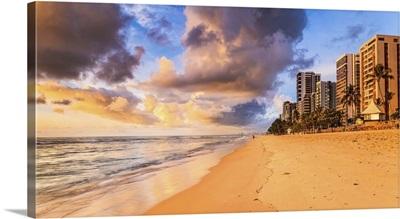 Brazil, Pernambuco, Atlantic ocean, Recife, Boa Viagem Beach