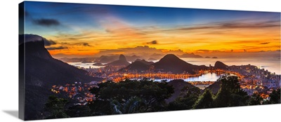 Brazil, Rio de Janeiro, Cityscape with Corcovado, Cristo Redentor