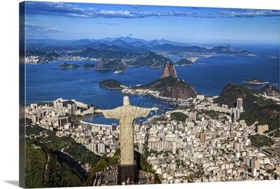 Brazil, Rio de Janeiro, Corcovado, Christ the Redeemer, Cityscape