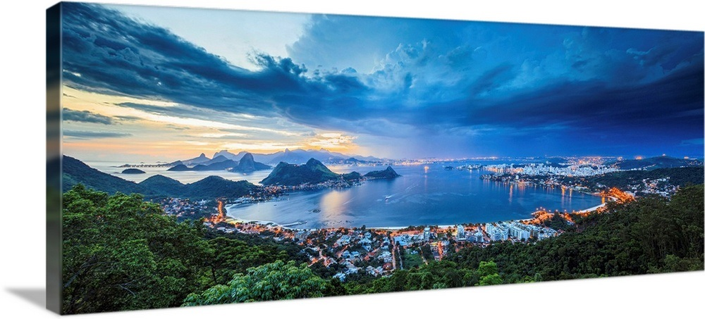 b481de205 Brazil, Rio de Janeiro, Niteroi, View of Niteroi, Baia de Guanabara Wall Art