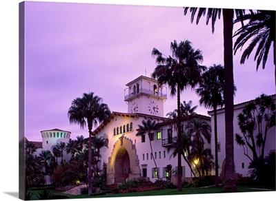 California, Santa Barbara, view of the County Courthouse