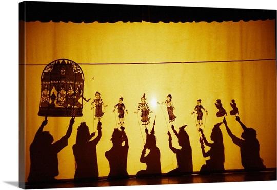 Cambodia, Phnom Penh, Theatre of the shadows Sovanna Phum Theatre ...