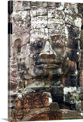 Cambodia, Siem Reap, Angkor, Buddha's face, Avalokiteshvara on Ta Som temple entrance