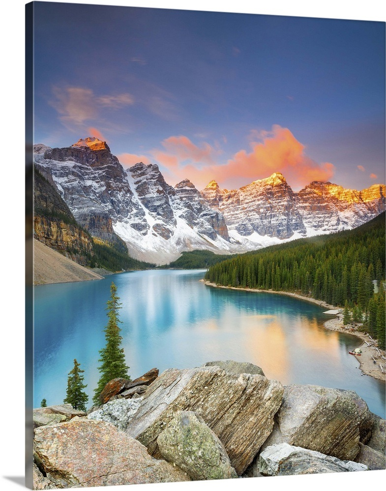 Nature: Moraine Lake And Valley Of Ten Peaks Banff