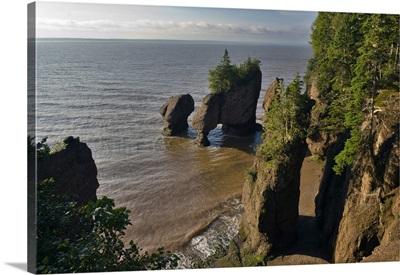 Canada, New Brunswick, Bay of Fundy, Fundy Bay, Hopewell Rocks