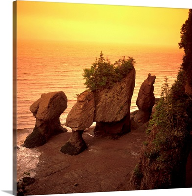 Canada, New Brunswick, Bay of Fundy, the Hopewell Rocks