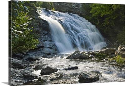 Canada, New Brunswick, Fundy National Park, Laverty Falls, Bay of Fundy, Fundy Bay
