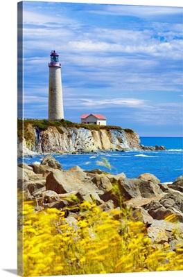 Canada, Quebec, Gaspe Peninsula, Cap-des-Rosiers Lighthouse