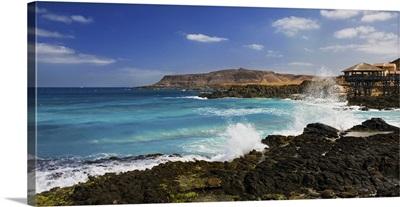 Cape Verde, Boa Vista, Atlantic ocean, View of Punta de Rincao