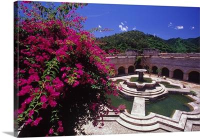 Central America, Guatemala, Antigua, La Merced convent, cloister