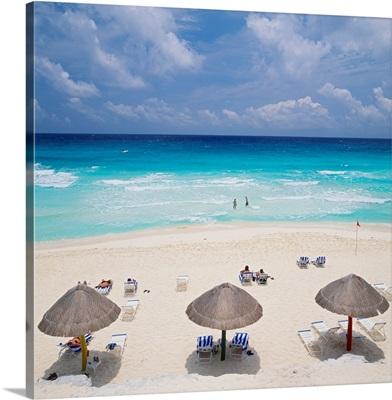 Yucatan, Cancun, Mexico, View of the beach