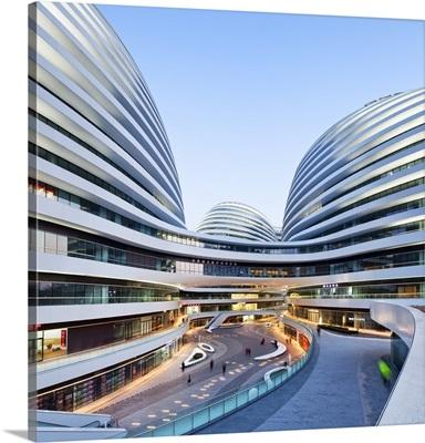 China, Beijing, Galaxy Soho, Galaxy Soho building designed by architect Zaha Hadid