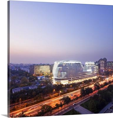 China, Beijing, Galaxy Soho, Galaxy Soho building designed by Zaha Hadid