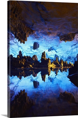 China, Guangxi, Guilin, Reed Flute Cave, the Crystal Palace of the Dragon King
