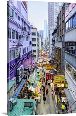 China, Hong Kong, Hong Kong island, Central, street market