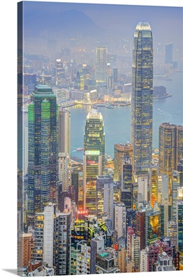China, Hong Kong, Hong Kong island, View from Victoria Peak