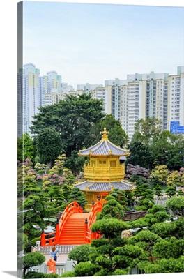 China, Hong Kong, Kowloon, Chi Lin Nunnery, a large Buddhist temple complex