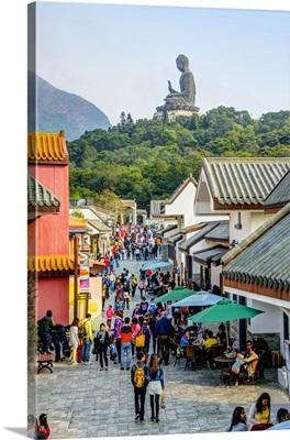 China, Hong Kong, Lantau, Tian Tan Buddha also known as the Big Buddha