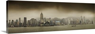 China, Hong Kong, Victoria Harbor, City skyline