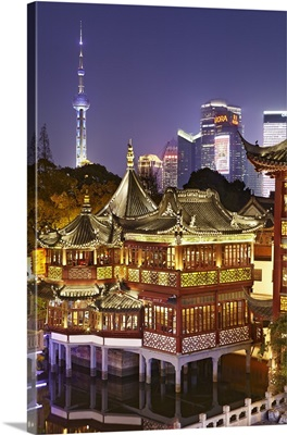 China, Shanghai, Huxinting Teahouse, Yuyuan Gardens